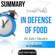 Ant Hive Media - Summary of Michael Pollan's In Defense of Food: An Eater's Manifesto (Unabridged)