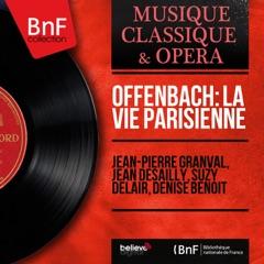"""La vie parisienne, Act III: Récitatif. """"Dieu vous garde, messieurs…"""" - """"Votre habit a craqué dans le dos !"""" (Bobinet, Chœur, Gabrielle, Pauline, Prosper, Urbain, Le baron de Gondremarck)"""
