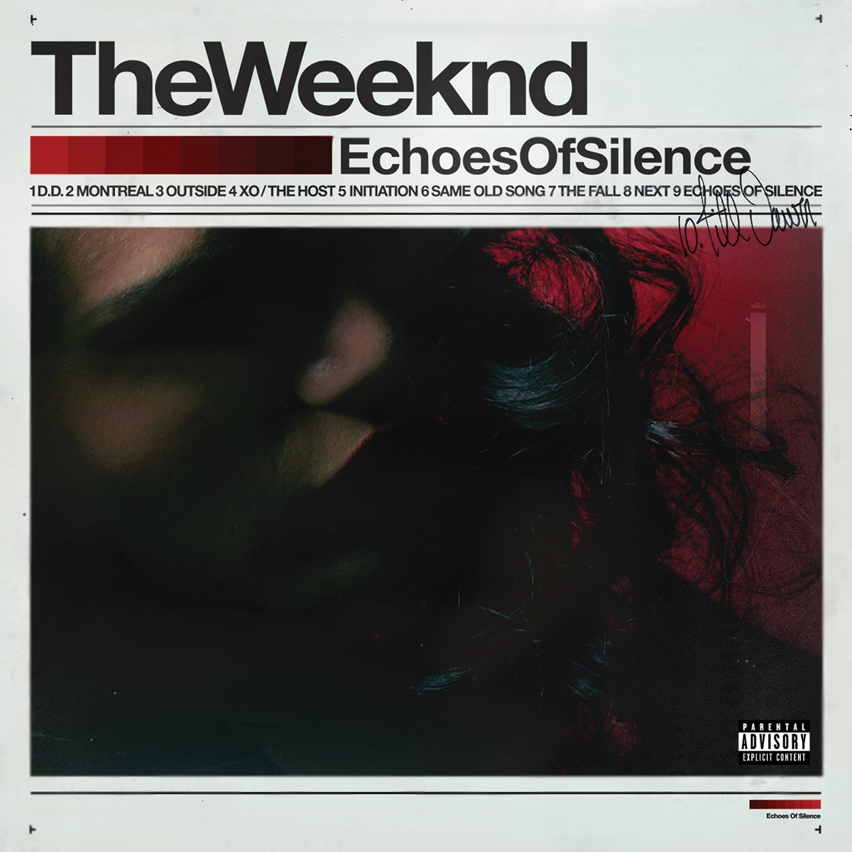 Echoes of Silence The Weeknd CD cover