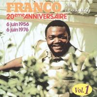 Various Artists - Franco & le T.P O.K. Jazz : 20ème anniversaire, vol. 1 (6 juin 1956 - 6 juin 1976) artwork