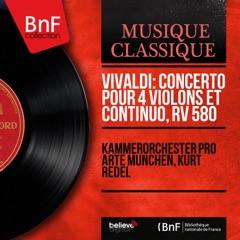 Vivaldi: Concerto pour 4 violons et continuo, RV 580 (Mono Version) - EP