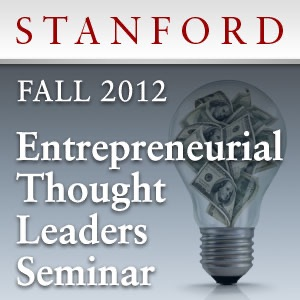 Cover image of Entrepreneurial Thought Leaders Seminar (Fall 2012)