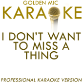 I Don't Want To Miss a Thing (In the Style of Aerosmith) [Karaoke Version]