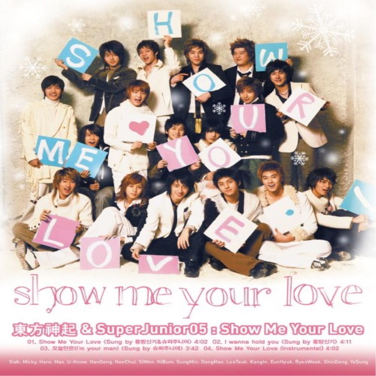 Show Me Your Love - Single Album Cover by SUPER JUNIOR & TVXQ!
