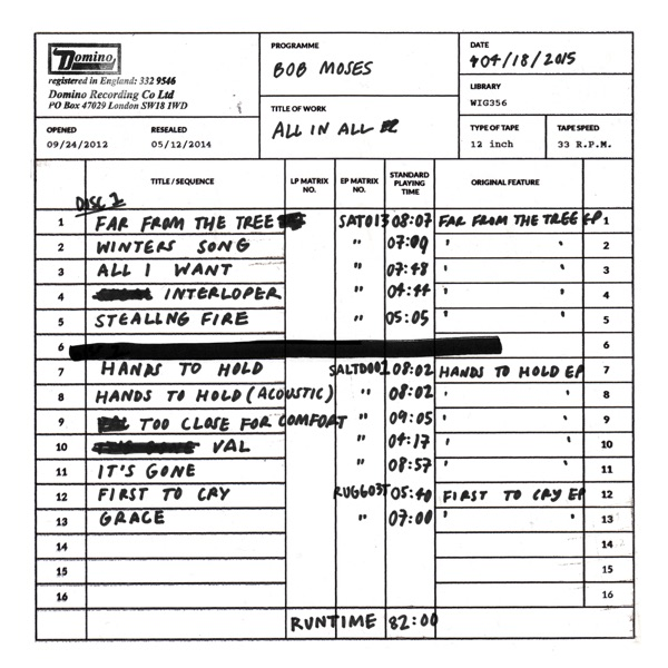 Bob Moses - All In All album wiki, reviews