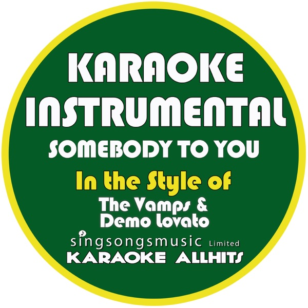 Somebody to You (In the Style of the Vamps & Demi Lovato) [Karaoke Instrumental Version] - Single