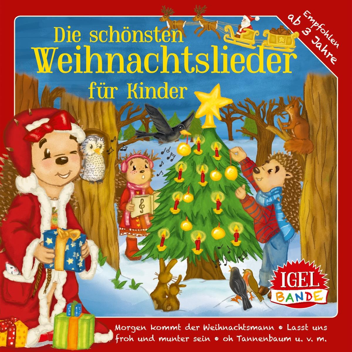 Die schönsten Weihnachtslieder für Kinder Album Cover by Igel-Bande