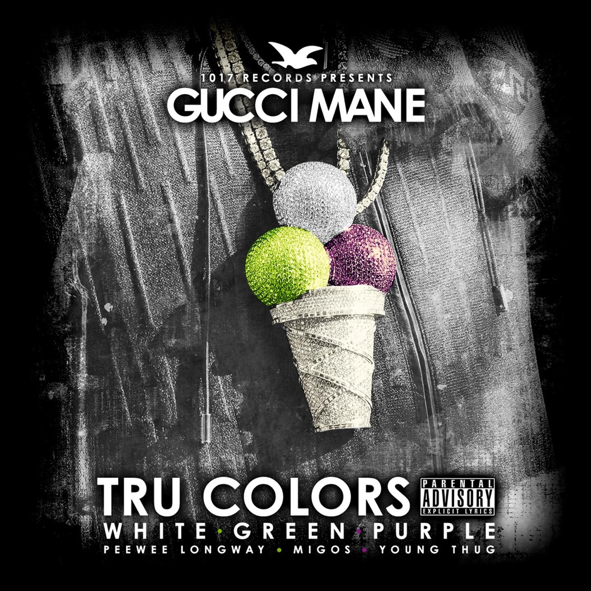 Tru Colors Gucci Mane Young Thug Peewee Longway  Migos CD cover