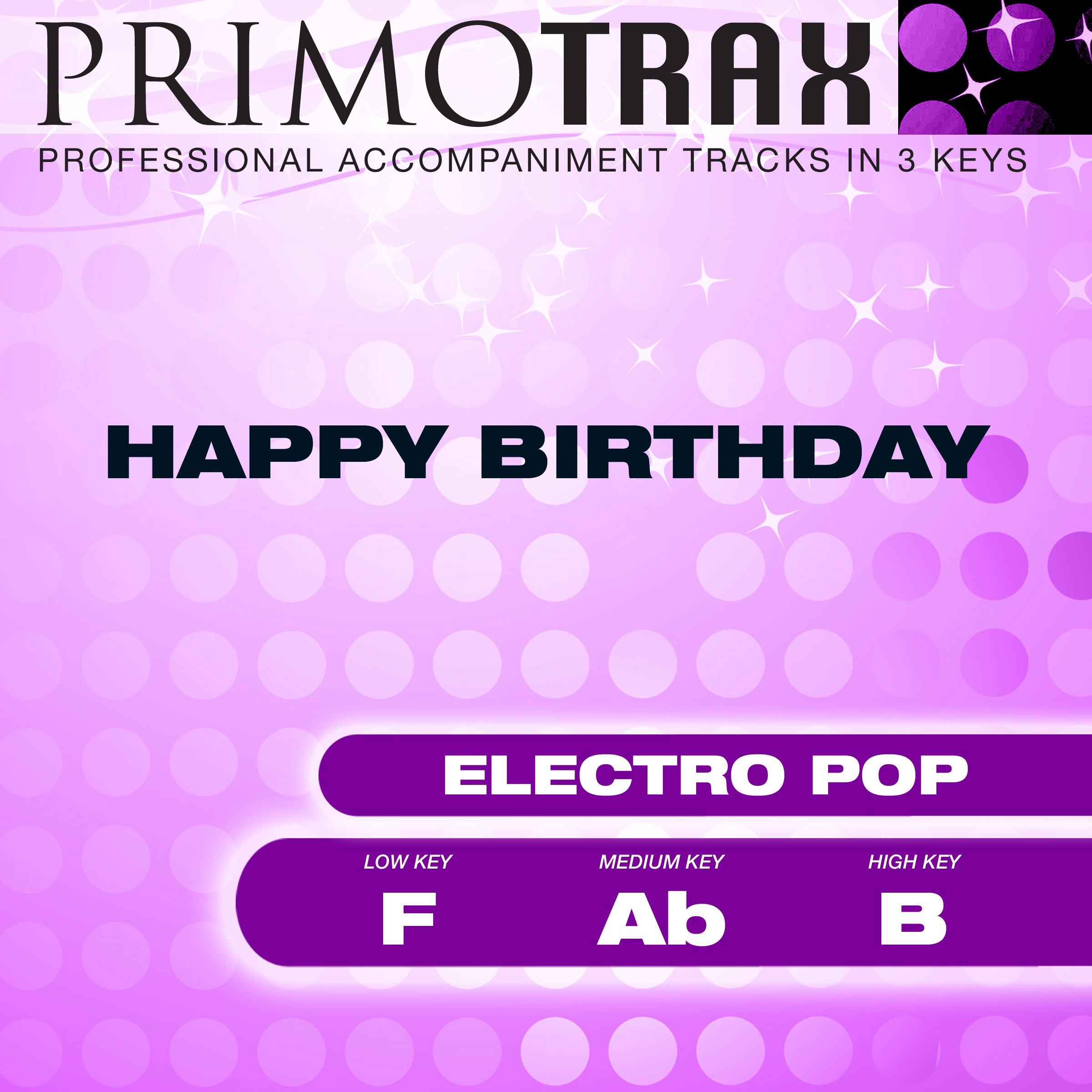 Happy Birthday - (High Key - B) Performance Backing Track (Electro Pop)