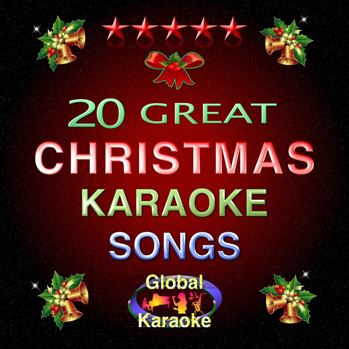 20 Great Christmas Karaoke Songs Album Cover by Global Karaoke