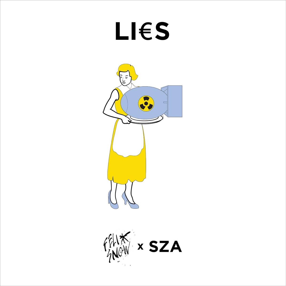 Lies feat SZA - Single Felix Snow CD cover