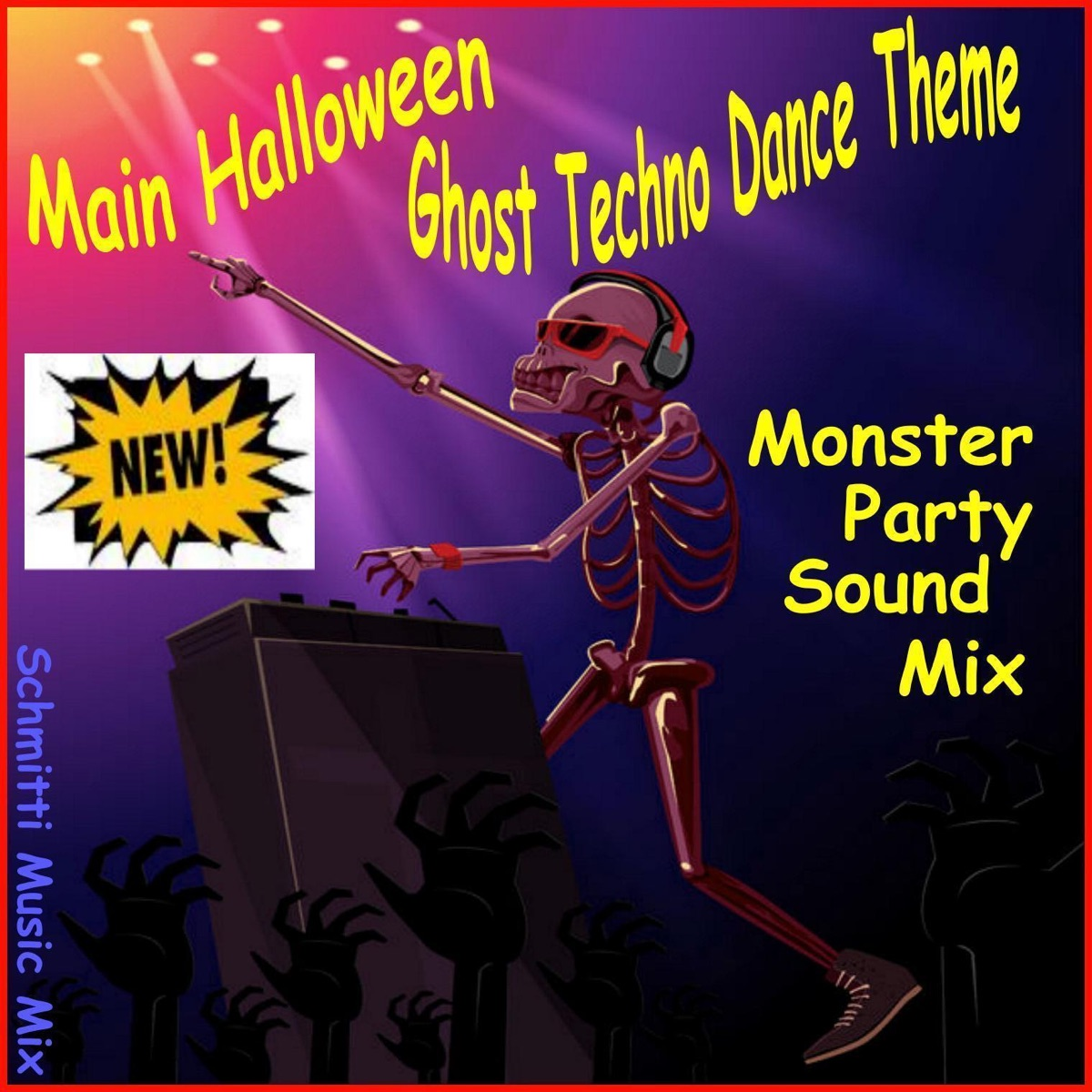 Main Halloween Ghost Techno Dance Theme Album Cover by Schmitti