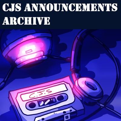 CJS Announcements Archive