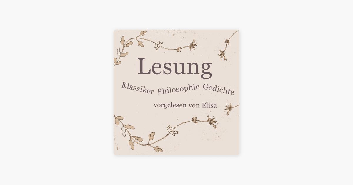 Lesung Klassiker Philosophie Gedichte Von Goethe Trakl