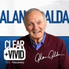 Clear+Vivid with Alan Alda artwork
