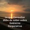 Lo que el Consultor debe de saber sobre Gobierno Corporativo