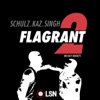 Andrew Schulz's Flagrant 2 with Akaash Singh artwork