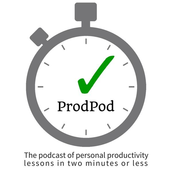 ProdPod, a Productivity Podcast banner backdrop