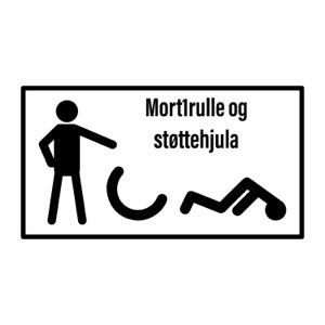 Mort1rulle og støttehjula
