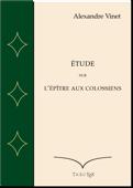 Étude sur l'épître aux Colossiens