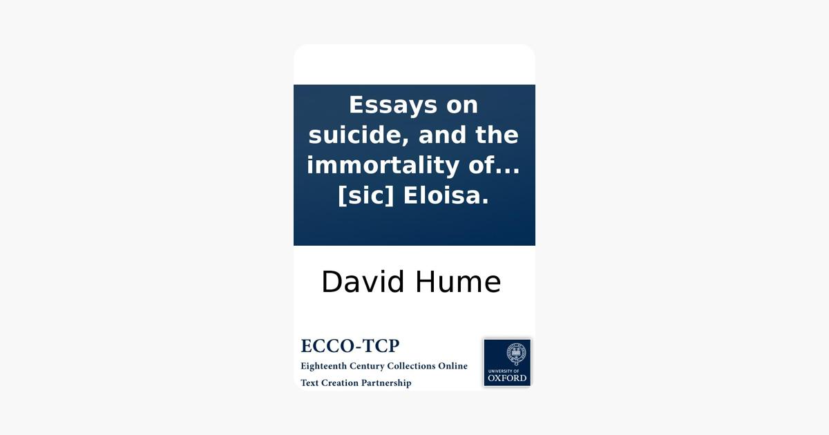 Dissertation essay four immortality soul suicide
