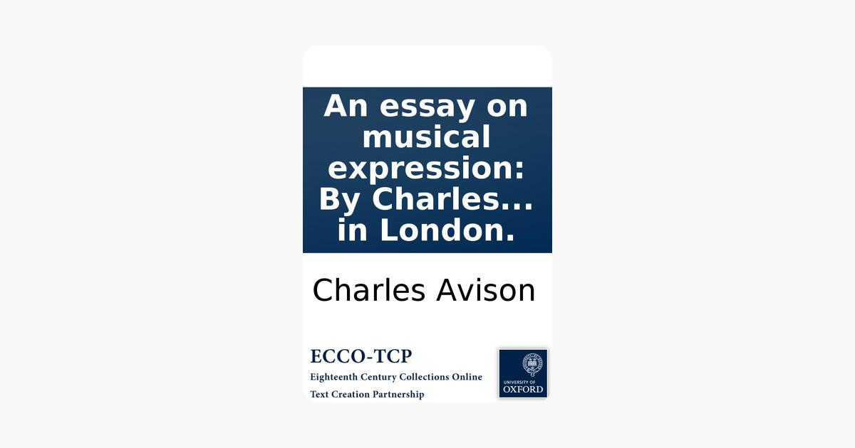 charles avison essay on musical expression