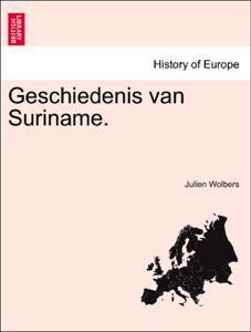 Geschiedenis van Suriname. Boekomslag