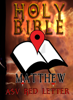 American Standard Version Bible & Better Bible Bureau - Holy Bible (ASV Red Letter Edition): Matthew  artwork