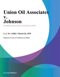Union Oil Associates V. Johnson