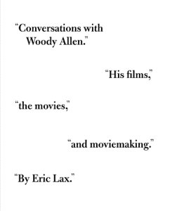 Conversations with Woody Allen - Eric Lax