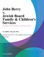 John Berry v. Jewish Board Family & Children's Services