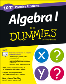 Algebra I: 1,001 Practice Problems For Dummies (+ Free Online Practice) book