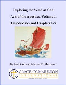 Exploring the Word of God Acts of the Apostles Volume 1: Introduction and Chapters 1–3 Book Cover