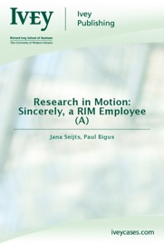 Research In Motion Sincerely A Rim Employee A