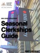 The ANU Legal Workshop Seasonal Clerkships Guide