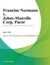 Francine Normann V Johns-Manville Corp Pacor