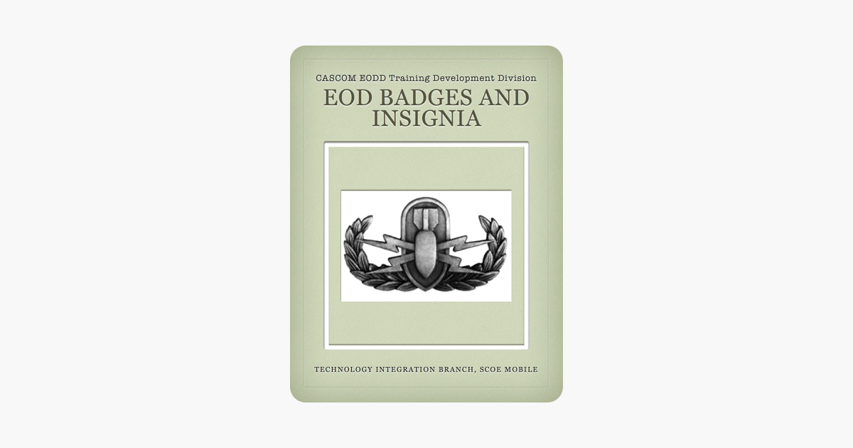 EOD Badges and Insignia on Apple Books