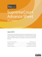 U.S. Supreme Court Advance Sheet June 2012