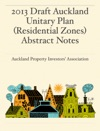 2013 Draft Auckland Unitary Plan Residential Zones Abstract Notes