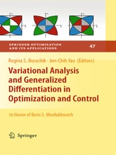variational analysis and generalized differentiation in optimization and control burachik regina s yao jen chih