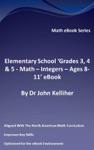 Elementary School Grades 3 4  5 - Math  Integers - Ages 8-11 EBook