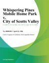 Whispering Pines Mobile Home Park V City Of Scotts Valley