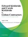 Edward Kirkbride And Carole Kirkbride V Lisbon Contractors