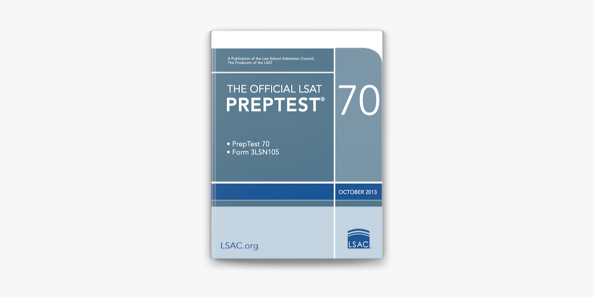 The Official Lsat Preptest 70 On Apple Books