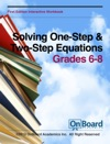 Solving One-Step  Two-Step Equations