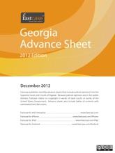 Georgia Advance Sheet December 2012