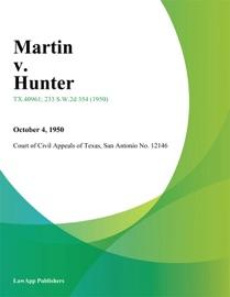 MARTIN V. HUNTER