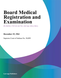 Board Medical Registration and Examination