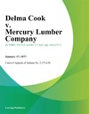 Delma Cook V Mercury Lumber Company