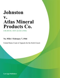 Johnston V Atlas Mineral Products Co